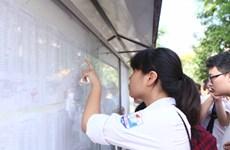Hà Nội công bố điểm thi vào lớp 10 trung học phổ thông