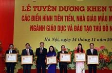 Hà Nội tuyên dương 700 nhà giáo tiêu biểu, mẫu mực năm 2016