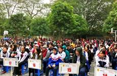 Hơn 1.200 học sinh trung học cơ sở Hà Nội tranh tài tiếng Anh