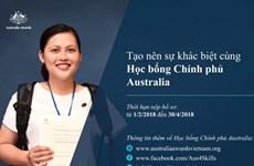 Công bố tiếp nhận hồ Học bổng Chính phủ Australia năm 2018