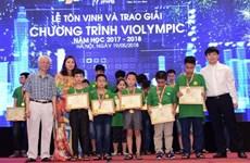 Hơn 2.000 học sinh đạt giải thi Violympic năm học 2017-2018