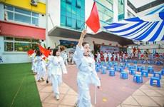 Ngắm học sinh tiểu học Hà Nội sôi nổi trong Ngày hội thể thao