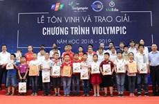 Trao giải cuộc thi Violympic năm học 2018-20 19 khu vực phía Bắc