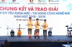 Trao giải cuộc thi Tài năng công nghệ nhí năm học 2018-2019
