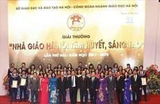 Hà Nội xét giải thưởng nhà giáo tâm huyết, sáng tạo năm học 2018-2019