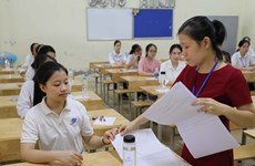 Hà Nội: 4 thí sinh vi phạm quy chế trong buổi thi môn Toán