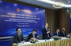 Hơn 40 trường đại học bàn cách thúc đẩy giáo dục quốc tế tại Việt Nam