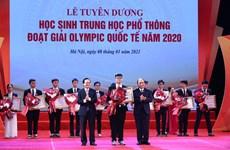 Tặng huân chương lao động cho học sinh đoạt giải olympic quốc tế