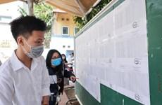 Hà Nội: Thí sinh hồi hộp chờ dự thi tốt nghiệp THPT môn đầu tiên