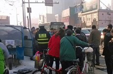 Một tài xế Trung Quốc tự thiêu vì bị công an phạt