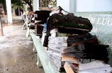Cháy lớn tại Tu viện Già Lam, kinh sách bị thiêu rụi
