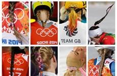 """Tóc tết """"kiểu Xô viết"""" lên ngôi ở Olympic Sochi 2014"""