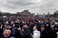 Biểu tình ủng hộ Nga diễn ra đồng loạt tại Đông Ukraine