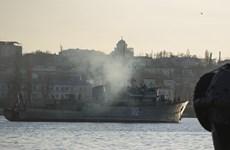 Ukraine tung tin hải quân Nga chặn eo biển Kerch ở Crimea