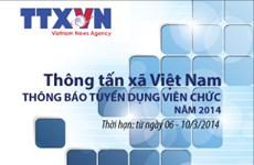 Thông báo tuyển dụng viên chức của TTXVN