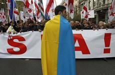 Gruzia: Biểu tình rầm rộ phản đối Nga và chính quyền