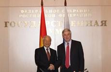 Tổng bí thư Nguyễn Phú Trọng hội kiến lãnh đạo hai viện Quốc hội Nga