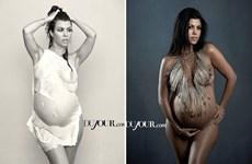 Tới lượt chị gái của Kim Kardashian khỏa thân trên bìa tạp chí