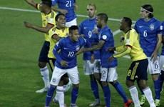 Neymar lĩnh thẻ đỏ, Brazil lần đầu thua Colombia sau 24 năm