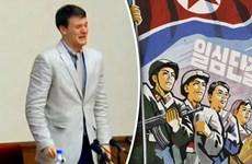 Sinh viên Mỹ khóc thảm thiết, nhận tội ăn cắp tranh cổ động Triều Tiên