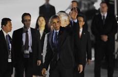 Tổng thống Hoa Kỳ Obama đã tới Nhật sau khi rời Việt Nam