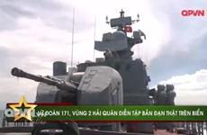 [Video] Cận cảnh Lữ đoàn 171 tập trận bắn đạn thật trên biển