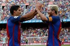 Kết quả bóng đá: Luis Suarez lập hat-trick, Higuain nổ súng