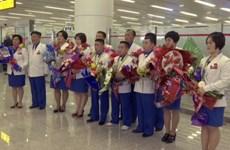 Các vận động viên Triều Tiên được chào đón nồng nhiệt khi về nhà