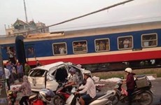 Vụ tàu hoả đâm ôtô tại Thường Tín: Đã có 5 người tử vong