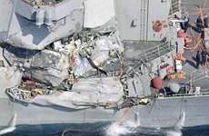Cận cảnh tàu khu trục Mỹ USS Fitzgerald bị tàu chở hàng đâm thủng