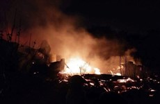 Hà Nội: Lại cháy lớn nhà xưởng ở Đại Mỗ trong những ngày giáp Tết