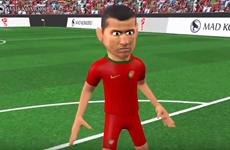 Tái hiện lại cú hat-trick của Cristiano Ronaldo bằng hoạt hình