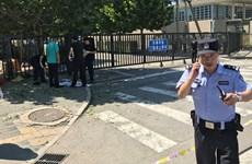 Video hiện trường vụ nổ bên ngoài đại sứ quán Mỹ ở Bắc Kinh