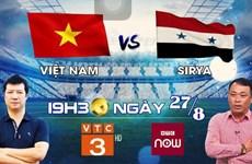 Trận Olympic Việt Nam vs Olympic Syria được chiếu trên kênh nào?