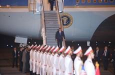 Tổng thống Mỹ Donald Trump đã về đến khách sạn Marriott