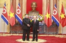 Lễ đón Chủ tịch Triều Tiên Kim Jong-un tại Phủ Chủ tịch