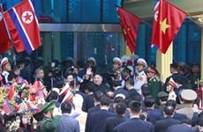 Chủ tịch Triều Tiên Kim Jong-un đã lên tàu rời Việt Nam