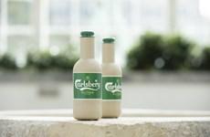 Hãng Carlsberg ra mắt chai bia giấy thân thiện với môi trường