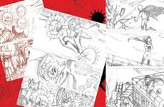 [Mega Story] Học sinh Hà Nội vẽ truyện tranh chủ đề chống COVID-19