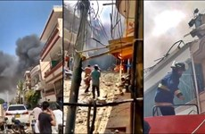 Hiện trường vụ máy bay chở 108 người đâm xuống khu dân cư ở Pakistan