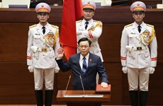 Chủ tịch Quốc hội khóa XV Vương Đình Huệ tuyên thệ nhậm chức