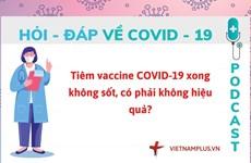 Hỏi đáp COVID-19: Tiêm vaccine xong không sốt thì có hiệu quả không?