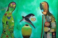 Nhà thơ Nguyễn Quang Thiều bày 53 bức tranh trong triển lãm đầu tiên