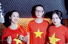Các nghệ sỹ cất tiếng hát cổ vũ Việt Nam trước trận đấu với Trung Quốc