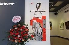 Ba cá tính riêng trên một tác phẩm chung tại triển lãm T.O.A.N