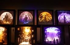 Bạn trẻ 9X làm đèn nghệ thuật tôn vinh cổ phục và cảnh đẹp Việt Nam