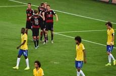 Các cầu thủ Brazil bị cho điểm 0 trong trận thảm bại trước Đức