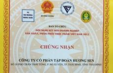 """Bia Đại Việt được trao giải """"Top 10 thực phẩm tốt nhất Việt Nam"""""""