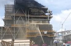 Đã dập tắt đám cháy tại công trường Nhiệt điện Duyên Hải 3 mở rộng