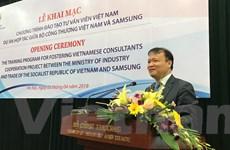 Samsung đào tạo chuyên gia về công nghiệp hỗ trợ cho Việt Nam